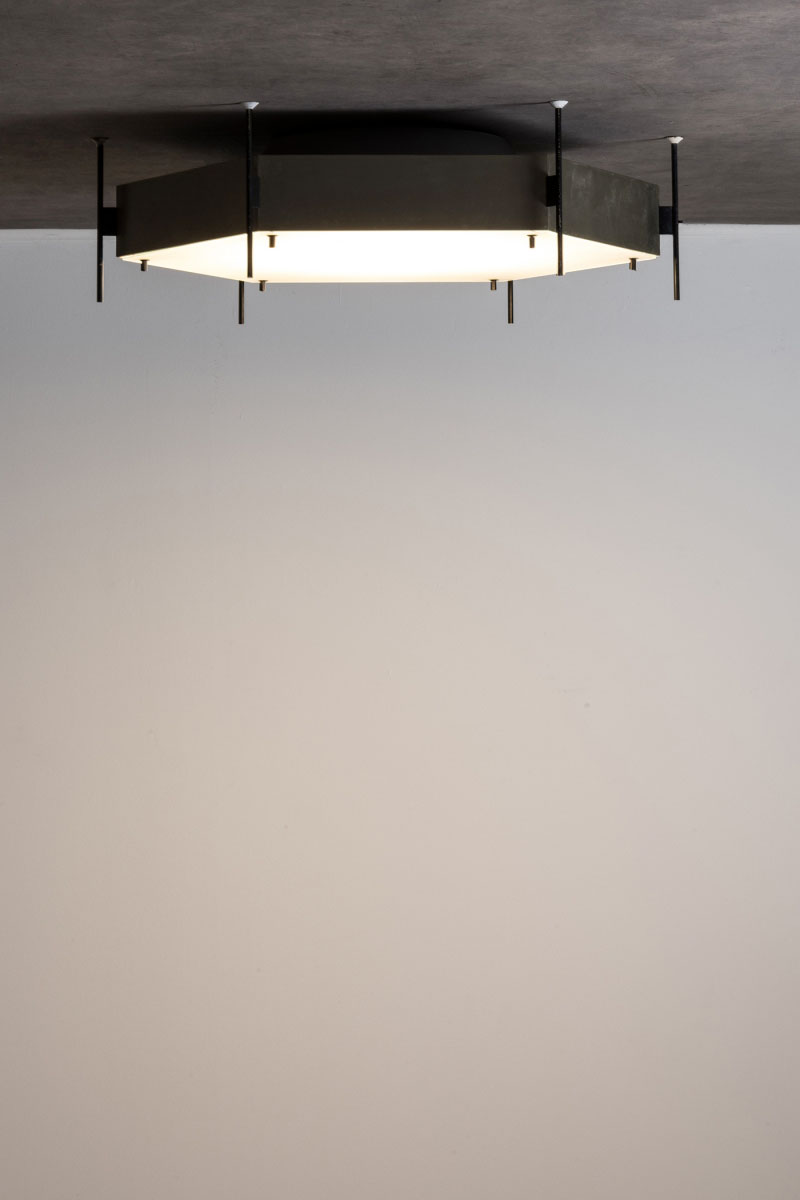 Pair of ceiling lamp Mod. 12712 Angelo Lelii pic-4