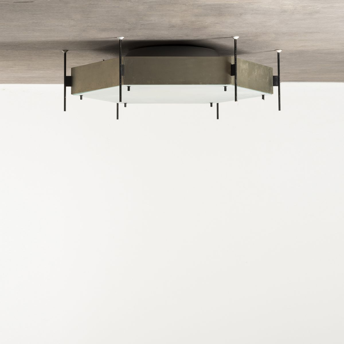 Pair of ceiling lamp Mod. 12712 Angelo Lelii pic-1