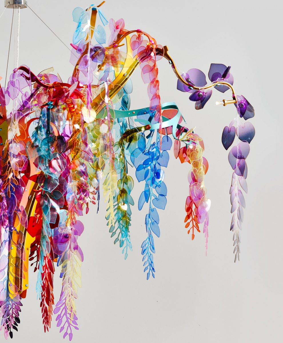 Wisteria chandelier with 3 branches Bethan Laura Wood pic-5
