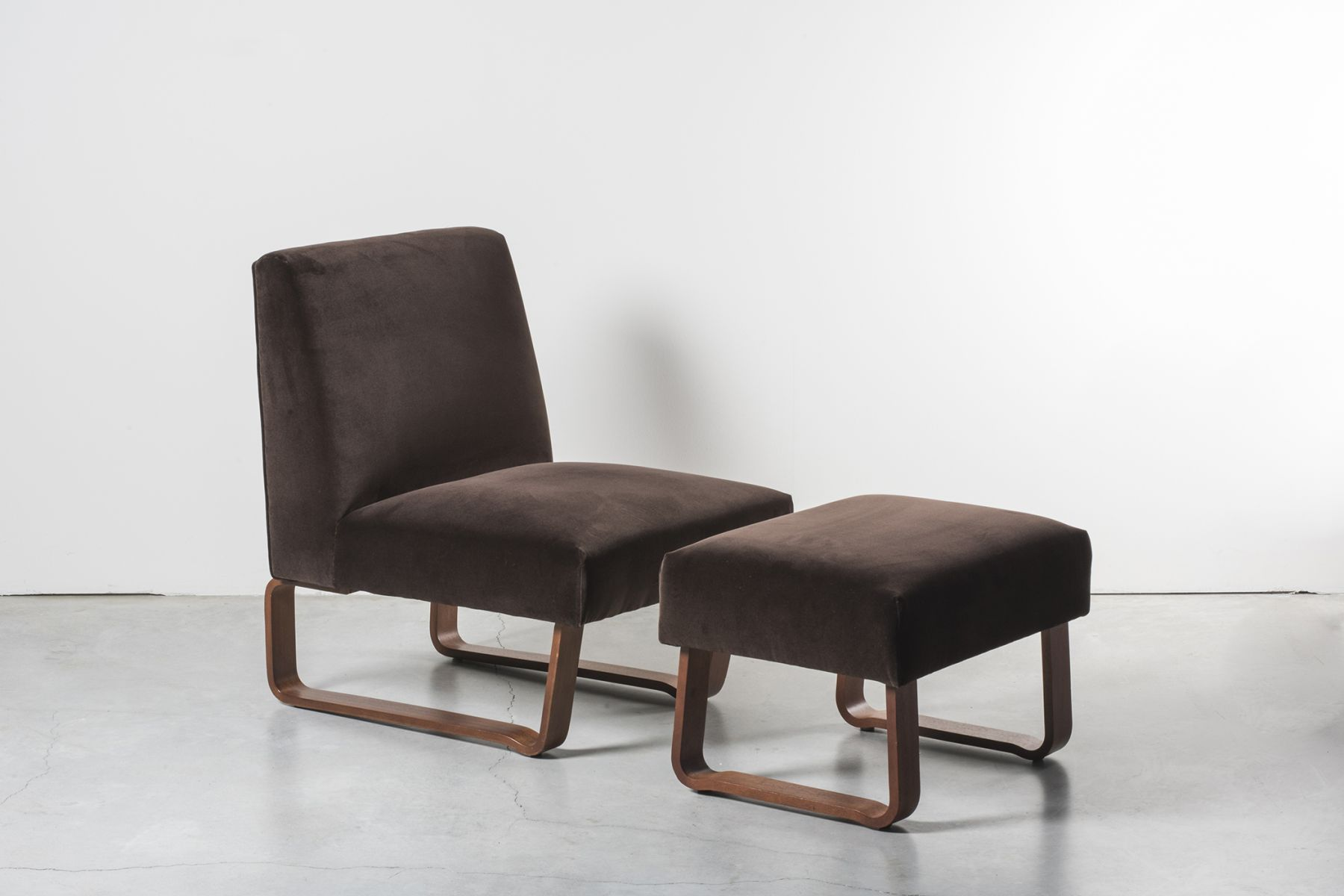 Lounge chair and ottoman Edward Wormley  pic-1