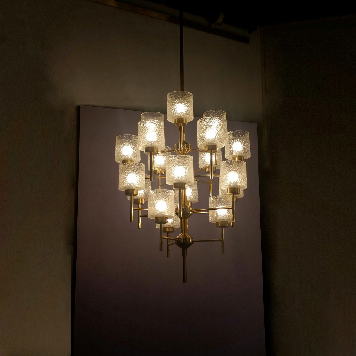 Two ceiling lamps with 18 arms each Hans Agne Jakobsson pic-1