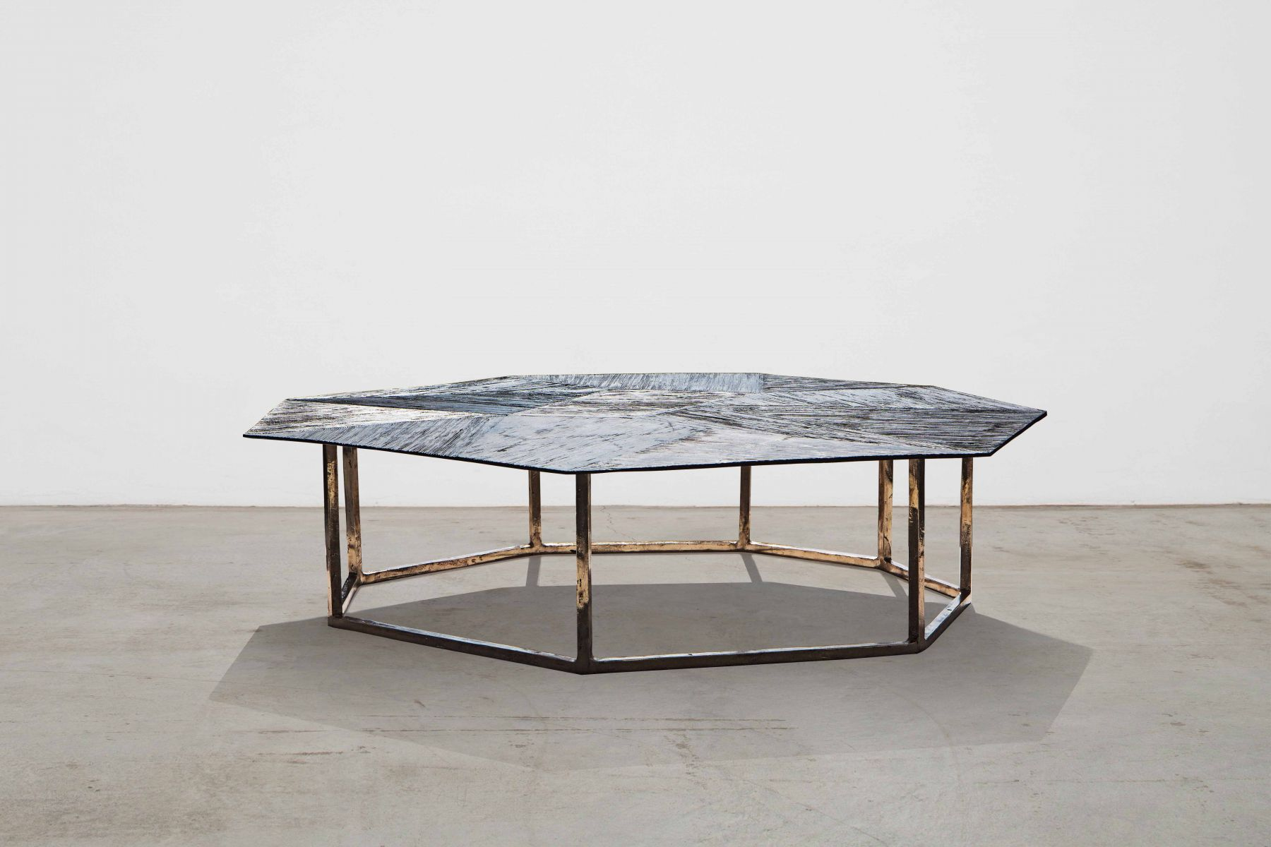 'Raggi' collection - octagonal low table Osanna Visconti pic-1
